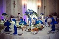 Свадебный стол в синем цвете
