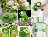 Свадебный стол в зеленом цвете