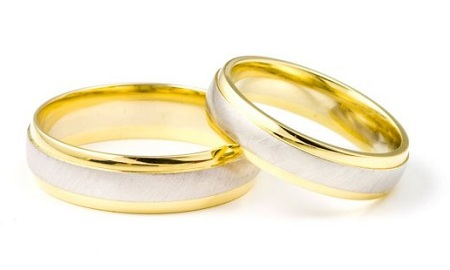 Кольца золотых молодоженов