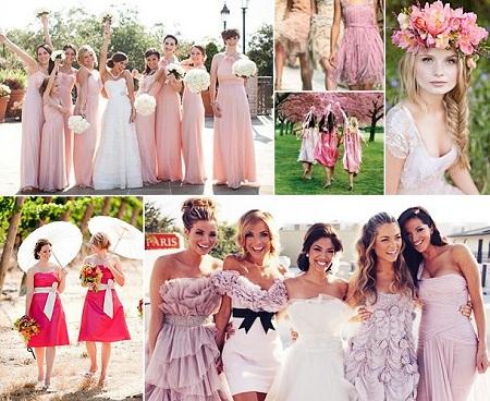 Наряды на розовую свадьбу