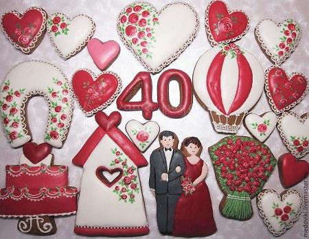 Подарки на рубиновую свадьбу своими руками