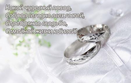 С серебряной свадьбой