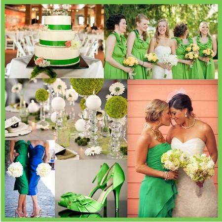 свадьба в зеленых тонах