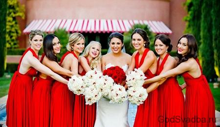 свидетельницы на свадьбе