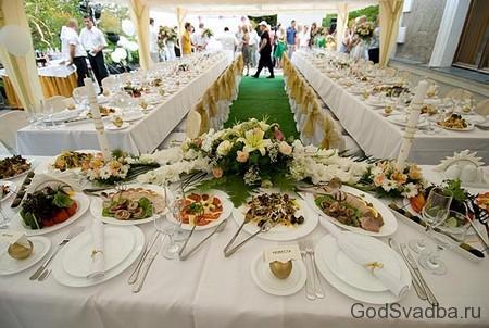 свадебные столы