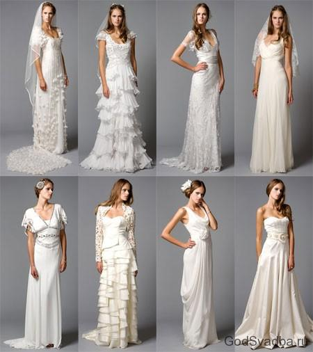 разные фасоны свадебного платья
